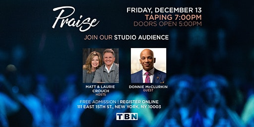 NY - Donnie McClurkin with Matt & Laurie Crouch