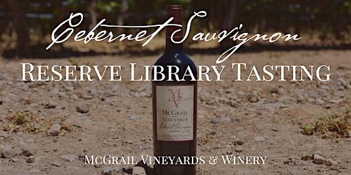 McGrail Cabernet Sauvignon Reserve Library Tasting