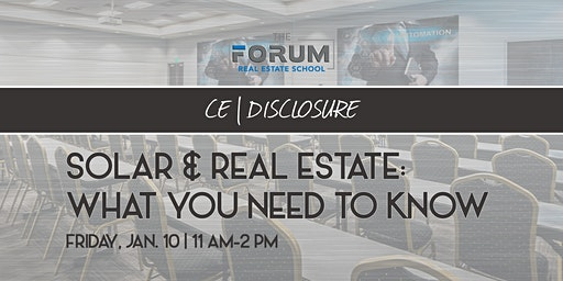 CE: Solar & Real Estate - What you need to know!