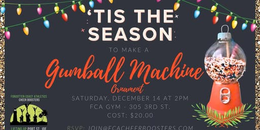Make a Gumball Machine Ornament w/FCA Cheer Boosters