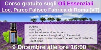 Fabrica di Roma Corso Gratuito sugli Oli Essenziali