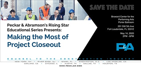 Save the Date: Peckar & Abramson's Rising Star Educational Series tickets