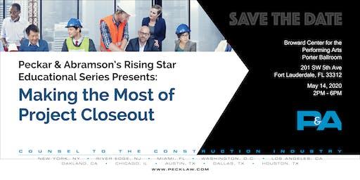 Save the Date: Peckar & Abramson's Rising Star Educational Series