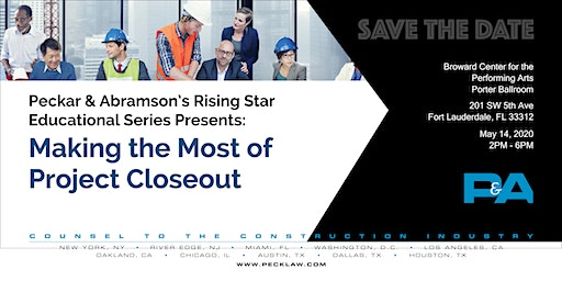Save the Date: Peckar & Abramson's Rising Star Educational Series