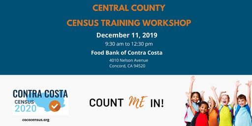 CoCo Census Central County Regional Training Workshop