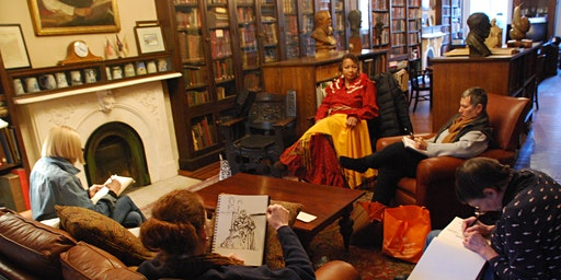 Salmagundi Club Drawing Session in Library