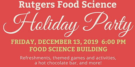 Rutgers Food Science Holiday Party tickets