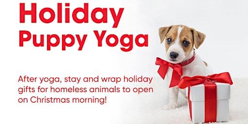 Holiday Puppy Yoga