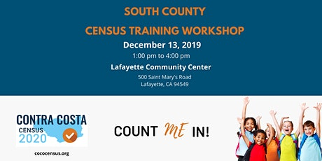 CoCo Census South County Regional Training Workshop tickets