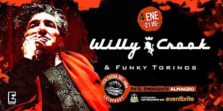 Willy Crook abre el año en El Emergente Almagro entradas