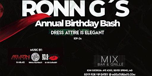 Ronn G's Annual Birthday Bash