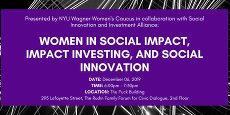 Women in Social Impact, Impact Investing and Social Innovation tickets