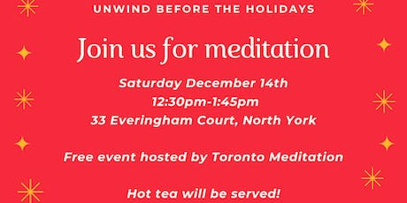 Unwind before the holidays with guided meditation tickets