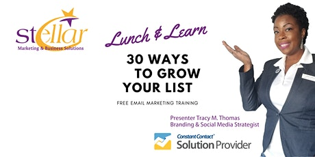 30 Ways to Build Your Email List tickets
