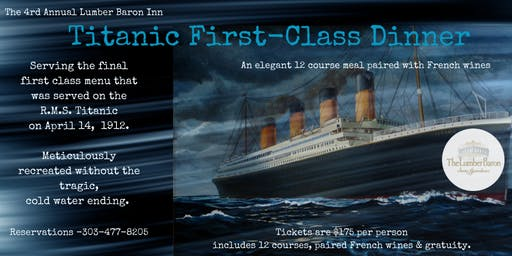 Titanic First Class Dinner