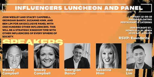 Influencers luncheon and Panel