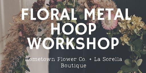 Floral Metal Hoop Workshop