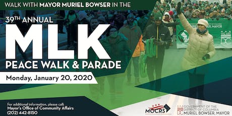 March with Mayor Muriel Bowser in the 2020 Martin Luther King Jr. Parade tickets