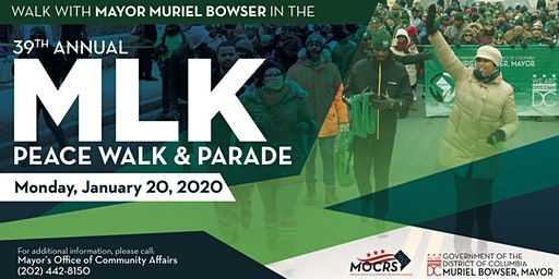 March with Mayor Muriel Bowser in the 2020 Martin Luther King Jr. Parade
