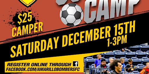 KIDS CAMP with AMARILLO BOMBERS - PRO SOCCER