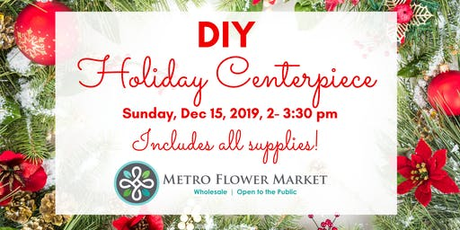 Refreshing Sunday- Floral Design Class, Holiday Centerpiece