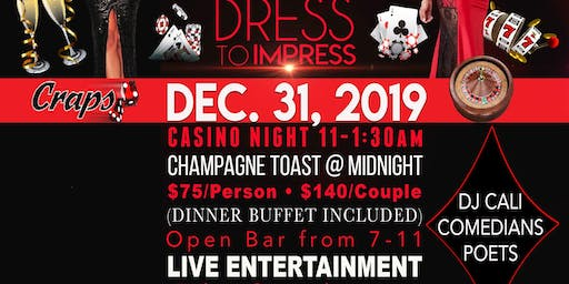 New Year Eve Casino Royale Party