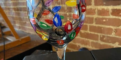 Bottles & Brushes Wine Glass Painting