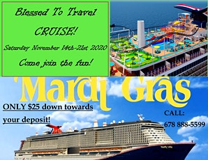 BLESSED TO TRAVEL CRUISE 2020 tickets