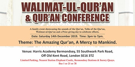 Qur'an Conference and Walimah-ul-Qur'an tickets