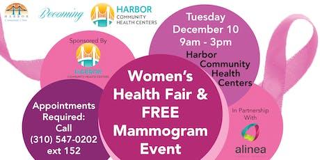 Women's Health Fair & Free Mammogram Event! tickets