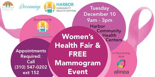 Women's Health Fair & Free Mammogram Event!