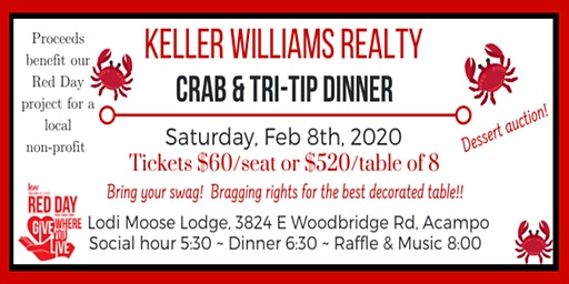 Keller Williams Crab & Tri-Tip Fundraising Dinner