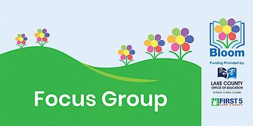 Bloom into Kindergarten Focus Group
