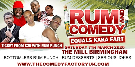 Rum and Comedy Birmingham tickets