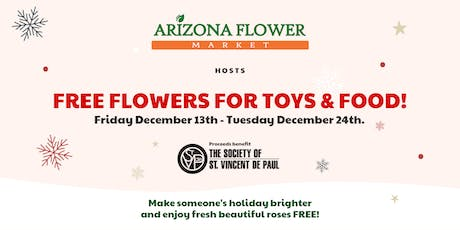 Flowers for Toys or Food Donation Drive tickets