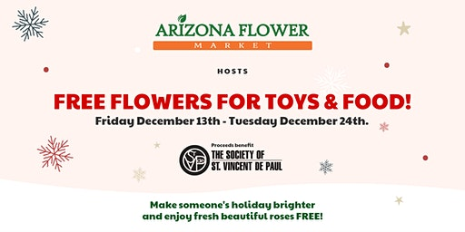 Flowers for Toys or Food Donation Drive