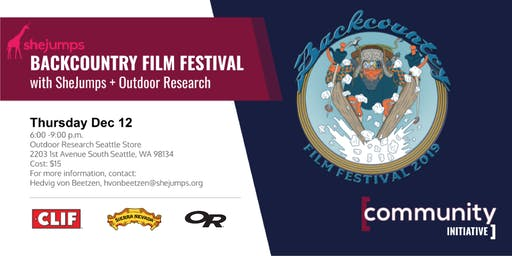 WA Backcountry Film Festival with SheJumps & Outdoor Research
