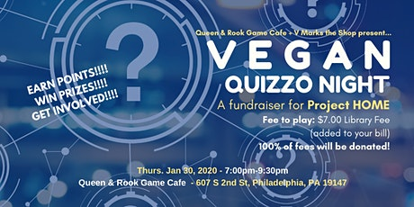 Vegan Quizzo Night - A Fundraiser for Project HOME tickets