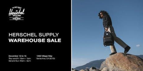 Herschel Supply Warehouse Sale tickets
