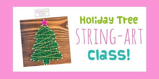 Holiday Tree String-Art Class!