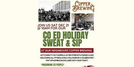 TWP & Copper Brewing Sweat and Sip tickets