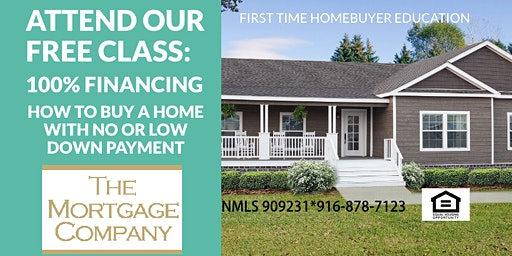 FREE class for buying a home with 100% financing