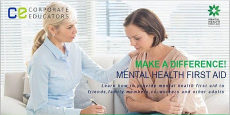 Make a Difference with Mental Health First Aid Training tickets