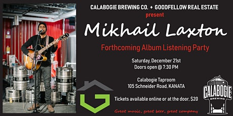 Mikhail Laxton LIVE at the Calabogie Brewing Company tickets