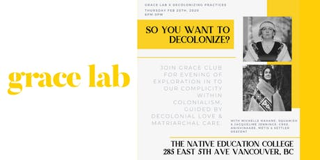 Grace Lab x Decolonizing Practices tickets