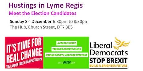 General Election Hustings in Lyme Regis tickets