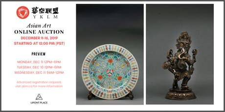 Asian Art Online Auction & Preview tickets