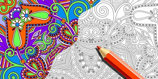 AN EVENING OF FREE COLORING FOR ADULTS
