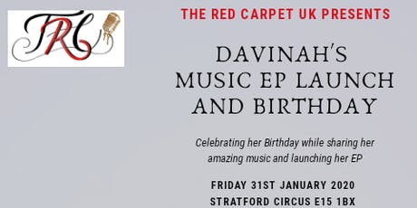 The Red Carpet Presents Davinah Music EP Launch tickets