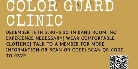 SPHS COLOR GUARD CLINIC tickets